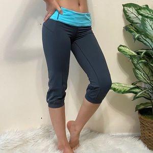 Lululemon Crop Leggings Gray/ Blue